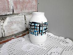 Vintage Scandinavian pottery vase handpainted от DelicateRetro