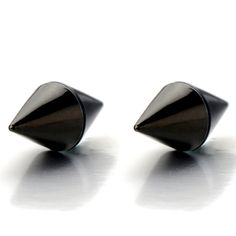 Magnetic Black Spike Stud Earrings for Men Women, Non-Piercing Clip On Steel Cheater Fake Ear Plugs Gauge: Amazon.ca: Jewelry