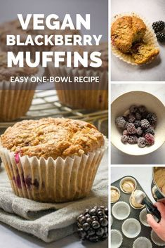 These vegan blackberry muffins are so soft and so moist - a delicious way to use up freshly picked blackberries, or use frozen berries instead! #Vegan #TheVegSpace Dairy Free Margarine, Dairy Free Baking, Vegan Baking, Blackberry Muffins Easy, Vegan Banana Muffins, Vegan Afternoon Tea, Afternoon Tea Parties, Vegan Breakfast, Breakfast Ideas
