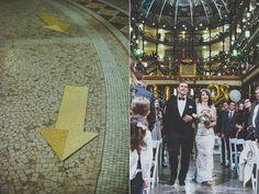 ceremony arrows - photo by Suzuran Photography http://ruffledblog.com/new-years-eve-cleveland-wedding