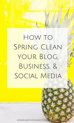 Get organized, control the clutter, and be more productive when you learn How to Spring Clean your Blog, Business, & Social Media - Tips @AmyHowardSocial