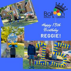 With everything going on it's nice to know that our clients still find joy in the little things. Happy 15th Birthday Reggie! Have you ordered your small yard numbers or mail box toppers? Give us a call At Balloon King And Queen 803-888-7235 or email info@balloonkingandqueen.com  #balloonkingandqueen #balloonking #balloonqueen #columbiaballoons #columbiaballoondelivery  #bubbleballoon #balloonarch #balloonartist #confettiballoons #balloons🎈 #balloondecoration #birthdayballoons #ballooncolumn… Balloon Bouquet Delivery, Balloon Delivery, Bubble Balloons, Confetti Balloons, Balloon Columns, Balloon Arch, Happy 15th Birthday, Finding Joy, Birthday Balloons