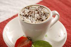 Kawa z czekoladą Hot Chocolate, Tea Cups, Pudding, Coffee, Tableware, Shake, Food, Kaffee, Crockpot Hot Chocolate