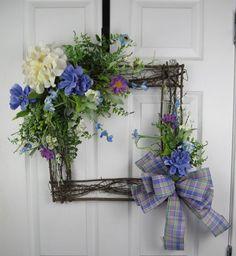 Hydrangea Wreath Blue and Purple Wreath Everyday Decor with Poppy Wreath, Poinsettia Wreath, Hydrangea Wreath, Purple Wreath, Floral Wreath, White Wreath, Diy Wreath, Grapevine Wreath, Monogram Wreath