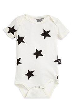 Nununu 'Star' Short Sleeve Cotton Bodysuit (Baby) available at #Nordstrom