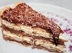 Receita de Pavê de Chocolate com Biscoito Maizena - 1 pacote de bolacha maizena molhadas, 1/2 copo de leite com, 1 colher de sobremesa da chocolate em pó, Cr...