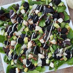 10 minute Dinner Salad tonight because it was hot today! For the Salad: baby spring mix blackberries roasted turkey breast, chopped avocado, diced crushed pecans Lemony Poppyseed Dressing: Makes about 3/4 cup Ingredients: 1/4 cup fresh squeezed lemon juice 2 Tbs unsweetened almond milk 2 Tbs...