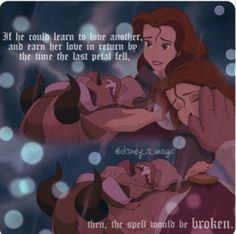 Beauty and the Beast And the spell would be broken. Disney Belle, Disney Love, Disney Magic, Disney Disney, Disney Stuff, Wedding Quotes, Wedding Humor, Beauty And The Beast Movie, Beauty And Beast Quotes