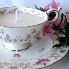 Vintage teacup Soy Candle - Coalport | Felt