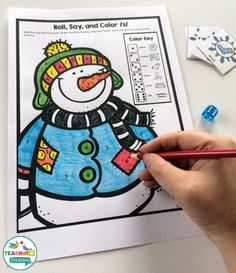 Winter Theme Articulation Print & Go Activities for Speech Therapy by teachingtalking.com