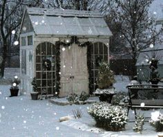 Love this little potting shed.