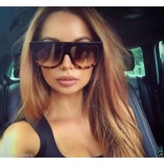 """Retro shadow ombré sunglasses Retro """"Shadow"""" Ombre Gradient Two Tone Flat Top Designer Inspired Sunglasses Uv protection Accessories Glasses"""