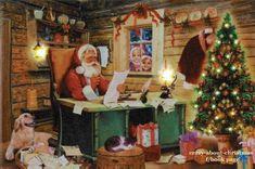 Santa Checking His List Advent Calendar Card ~ Germany Very Merry Christmas, Christmas Cards, Christmas Ornaments, Christmas Stuff, Holiday Pops, Holiday Decor, Christmas Artwork, Santas Workshop, Vintage Ornaments