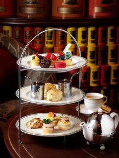 English Afternoon Tea set as seen in Starhill Tea Salon