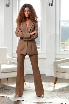 If you only have one suit in your wardrobe, this is the jacket you want to start with. Classically cut with a high notch lapel and single button, reverse darts on the back ensure it will fit beautifully. Pair with the Anna pants for a modern look. Prom Suit Looks, Suit Fashion, Fashion Outfits, Trendy Outfits, Girly Outfits, Fashion Clothes, Graduation Suits, Classy Suits, Pantsuits For Women