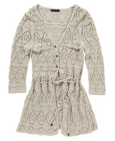 """Joe Browns"" Joe Browns Flattering Crochet Cardigan at Simply Be - A great compliment to our range of gorgeous dresses and tunics, this open-knit cardigan with self-string belt is a flattering favorite."