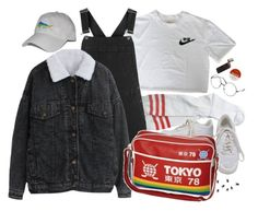 """""""tokyo"""" by paper-freckles ❤ liked on Polyvore featuring Tokyo Rose, Topshop, Therapy, NIKE and ZeroUV"""