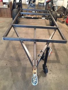 Aluminum Deck Over Trailer – Great Decking Ideas Scamp Trailer, Small Camper Trailers, Off Road Camper Trailer, Overland Trailer, Dump Trailers, Trailer Plans, Trailer Build, Cargo Trailers, Camping Trailer Diy