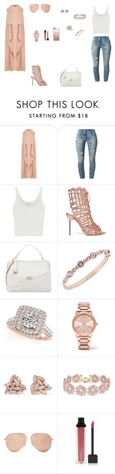 """""""Look do Dia"""" by julianaf121 ❤ liked on Polyvore featuring Faith Connexion, 3.1 Phillip Lim, Sophia Webster, Versace, Givenchy, Allurez, Michael Kors, Suzanne Kalan, BaubleBar and Victoria Beckham"""