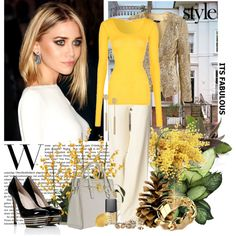 YELLOW, WHITE AND GOLD - IT'S FABULOUS! - Polyvore