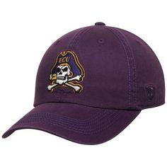 buy popular 8ec7f 87854 East Carolina Pirates Top of the World Solid Crew Adjustable Hat - Purple