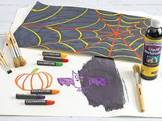Waltercolor Resist Spider Webs