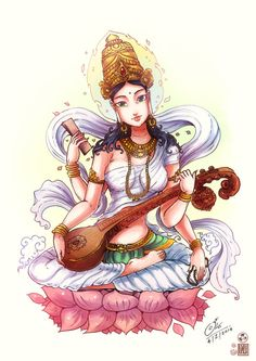 Saraswati mata by In-Sine.deviantart.com on @DeviantArt