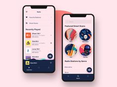 Radio App by ++hellohello on Dribbble⠀⠀⠀⠀⠀⠀⠀⠀⠀⠀⠀⠀⠀⠀⠀⠀⠀⠀⠀⠀ Ui Design Mobile, Mobile Application Design, Design Ios, Mobile Ui, Layout Design, Circle Ui, Radio Design, Hello Hello, Music App