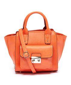 Loving this Orange Kate Winged Convertible Satchel on #zulily! #zulilyfinds
