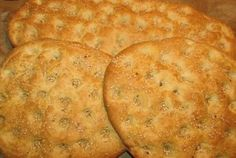 Lagana (laganes) for Clean Monday. How to bake a Lagana, a type of Greek flat bread Greek Bread, Cooking Time, Cooking Recipes, Greek Easter, Pastry Art, Tasty, Yummy Food, Freshly Baked, Greek Recipes