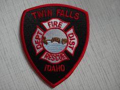 Patch Twin Falls Fire Rescue Department USA Idaho 100%ORIGINAL New Rarity  | eBay