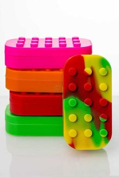 Brick Multi compartment Silicone Container * Silicone Container * Non-stick silicone * Multi Compartments * Pink, Orange, Red Green and Rasta available Oil Safe, Red Green, Orange Red, Things To Think About, Brick, Wax, Container, Told You So, Shit Happens