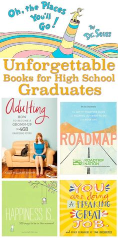 Inspiration, meaningful, fun, and actually helpful books for high school graduates. (Some are perfect for college grads too!) Best Picture For High School stereotypes For Your Taste You are looking fo High School Graduation Quotes, Graduation Gifts For Daughter, High School Graduation Gifts, Graduation Book Ideas, Gifts For College Graduates, College Grad Gifts, Graduation Parties, Graduation Decorations, School Quotes
