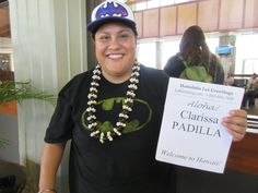 Coming to Hawaii for the first time  is Clarissa. Your lei greeter Raychel thought you were an awesome customer and hopes that you have a lot fun with all your plans here on our beautiful island!