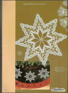 """Журнал """"Lace Express"""" 2002 №3 Bobbin Lacemaking, Parchment Craft, Lace Heart, Lace Jewelry, Xmas, Christmas Ornaments, Needle Lace, Lace Making, Lace Patterns"""