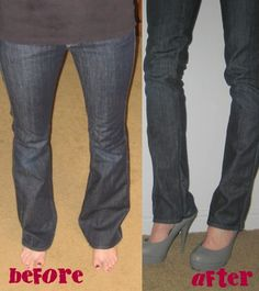 DIY skinny jeans. I used the tips from this cite and my jeans turned out fine! I will make a few tweaks next time though ~Bethy
