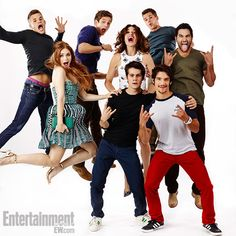 Charlie Carver, Holland Roden, Dylan O'Brien, Crystal Reed, Daniel Sharman…