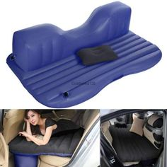 Inflatable Travel Camping Car Seat Sleep Rest Mattress Air Bed with Pillow/Pump in Home & Garden, Furniture, Beds & Mattresses | eBay