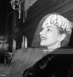 Maria Callas, Vienna, Photograph, 1956 (Photo by Imagno/Getty Images) [Maria Callas, Wien, Photographie, 1956]