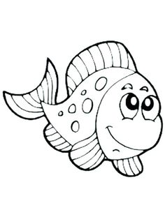 ausmalbild fisch zum kostenlosen ausdrucken und ausmalen