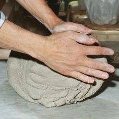 Kneading your clay is the first step.