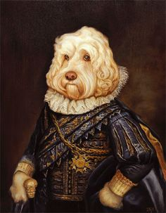 Anthropomorphic, Altered Art. Commissioned Royal Pet Portraits by LordTruffles on Etsy.