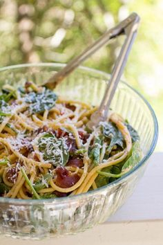 Try a new take on a classic BLT by making it into a pasta dish!