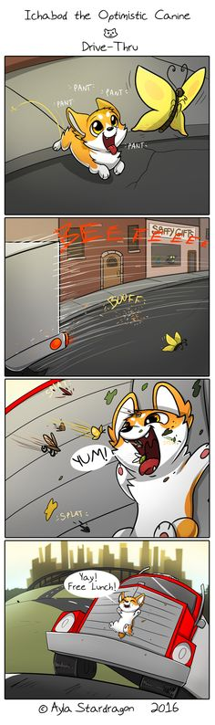 Ichabod the Optimistic Canine :: Drive-Thru | Tapastic Comics - image 1