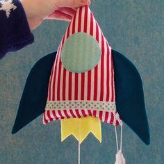 1, 2, 3, ..., our handmade music box rocket is ready for liftoff! #die_buntique #diebuntique #buntique #music #rocket #space #musicbox #musicalclock #sleeping #children #baby #bedtime #handmade #design #store #kirchengasse #1070 #vienna