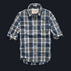 2013 Brands Abercrombie and Fitch Shirt For Mens White and Blue
