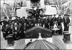 Apprentice boys aboard the U.S.S. Olympia.
