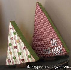 Simple and sweet Christmas trees #Christmas #tree #wood