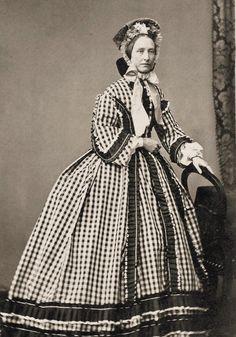 Silk Check Day Dress, ca.1900's