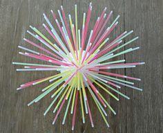 Glow in the Dark DIY Glow Stick Centerpiece  needs a pack of 100 plus 1/2 styrofoam ball